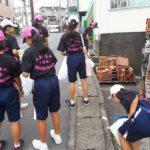 街の清掃作業