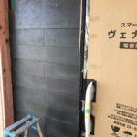 屋根材[コロニアル]と同じ形の材料で外壁工事 [続]