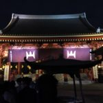 浅草浅草寺で新年祈願